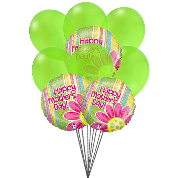 Happiness on Mother's day with a big smile.   Send #Balloons for Mother's day.
