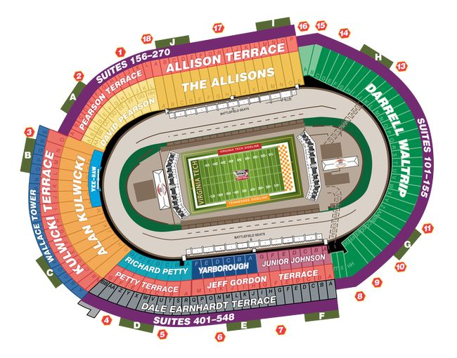 Battle at Bristol Seating Chart (Bristol Motor Speedway)