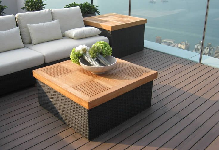 Black Bean; roof top pool and seating #ModWood #88mm #Furniture