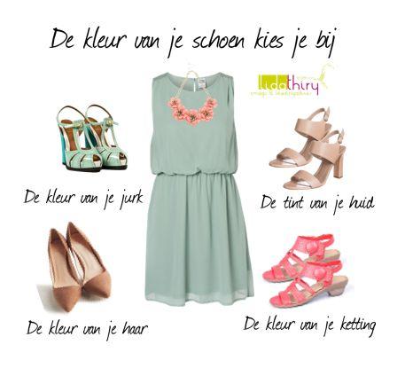 De kleur van je schoenen kies je bij ..... | www.lidathiry.nl | Klik op de foto voor meer informatie. Het jurkje is van #veromoda