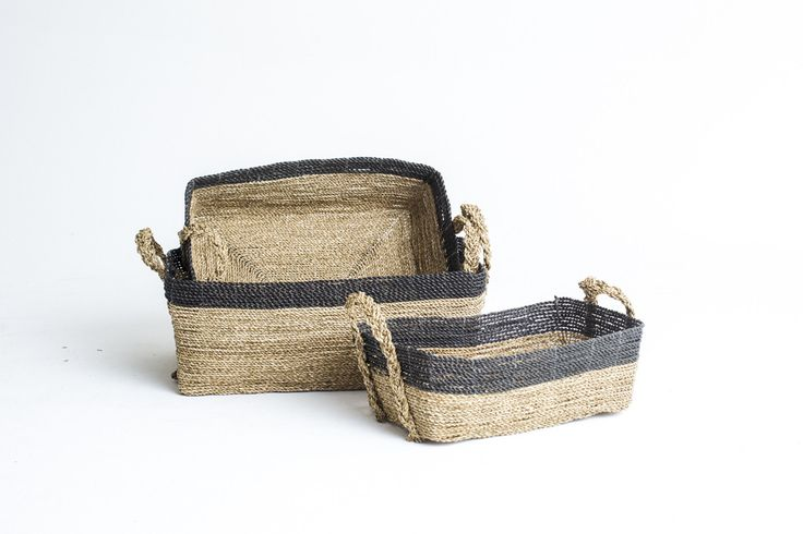 Low Rectangle Basket Natural