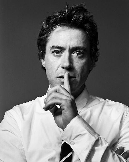 "Robert Downey Jr. says ""shush."""