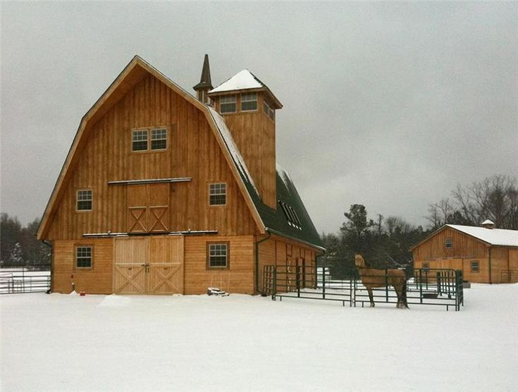 marvelous gambrel style barns #5: The Ayrshire Gambrel Style Horse Barn - Barn Pros