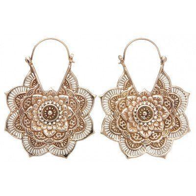 Mandala Earrings in Rose Gold