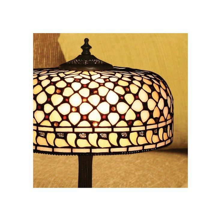 Lampada Tiffany da Tavolo o Scrivania Gialla