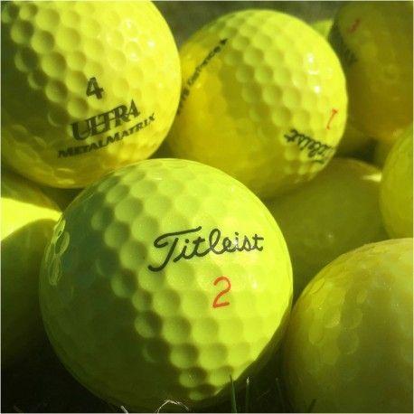 Gule golfbolde. Pæne og rengjorte søbolde i gule farver. #gulegolfbolde #golfbolde #søbolde #vinterbolde #jyskegolfbolde #lakeballs