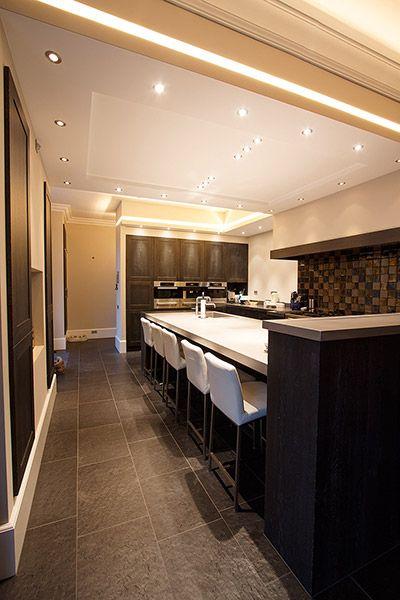 Donkere Keuken Vloer : Donkere keuken met donkere vloer + lichtere kleur keukenblad