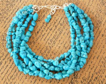 Turquoise Wedding Necklace Chunky Turquoise от LilykayCouture