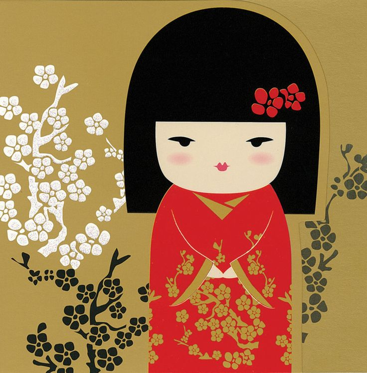 """✿ Kimmidoll Illustration ~ """"Tomiko"""" Wealth' ✿ """"My spirit brings abundance and prosperity. By sharing your knowledge, talents, time and energy, you release my power. Give the best of yourself and you will discover true wealth."""""""