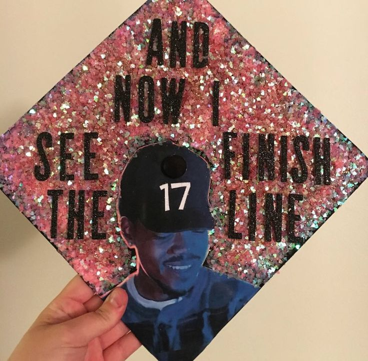 Chance The Rapper Graduation Cap! Lots of glitter and love :) college class of 2017! Biology