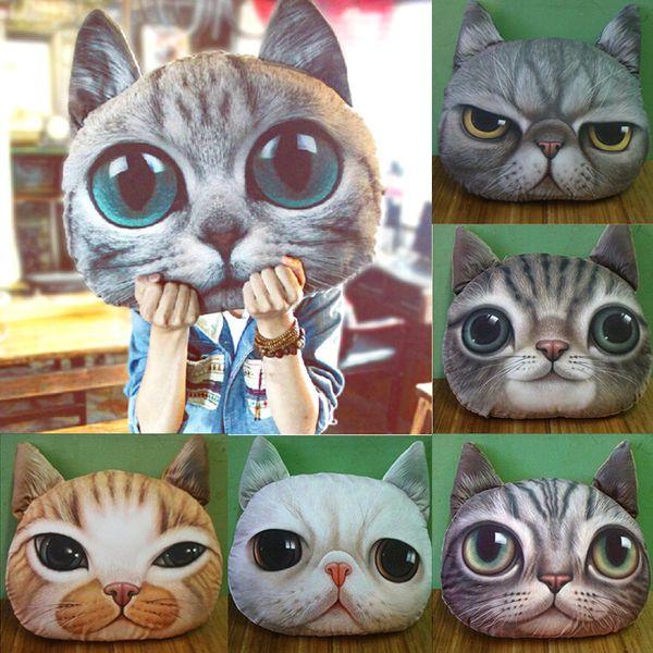 Gezicht van de kat Meow Nap Gooi Kussen Lumbale  van Juniorone op DaWanda.com