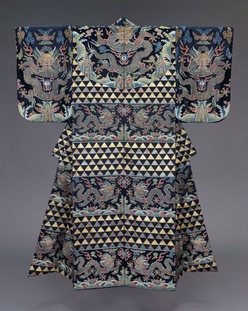 Noh theater robe ATSUITIA) for a male role. Japanese, Meiji era, late 19th century.