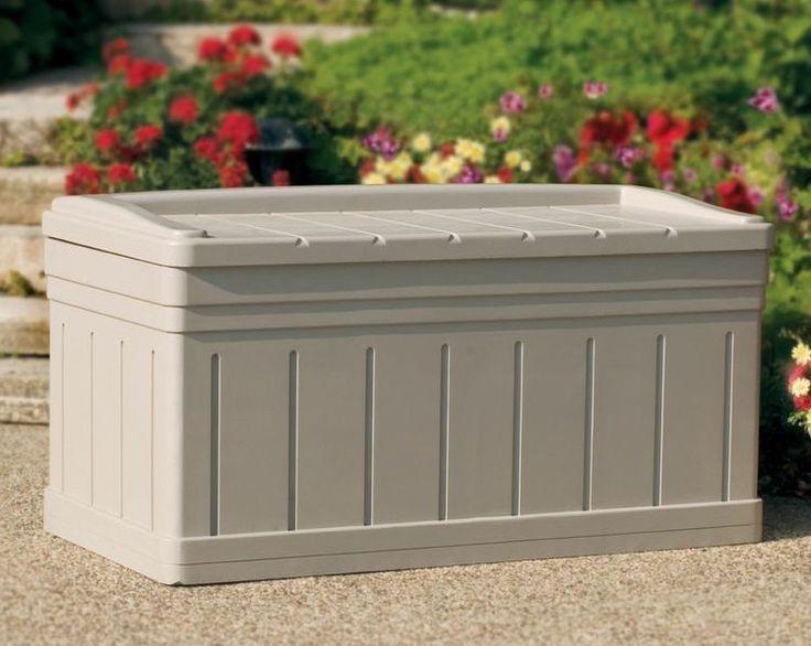 Deck Storage Box Patio Outdoor Bench Seat Garden Furniture Storage Pool  Yard #Suncast