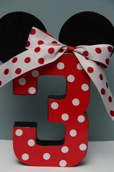 minnie mouse decorated paper mache letters - Google Search