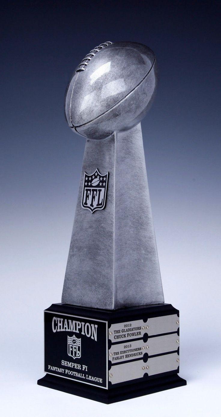 Fantasy Football Lombari Premio Trofeo Réplica en Base 12 AÑO 19 Pulgadas-ENVÍO LIBRE y GRABADO