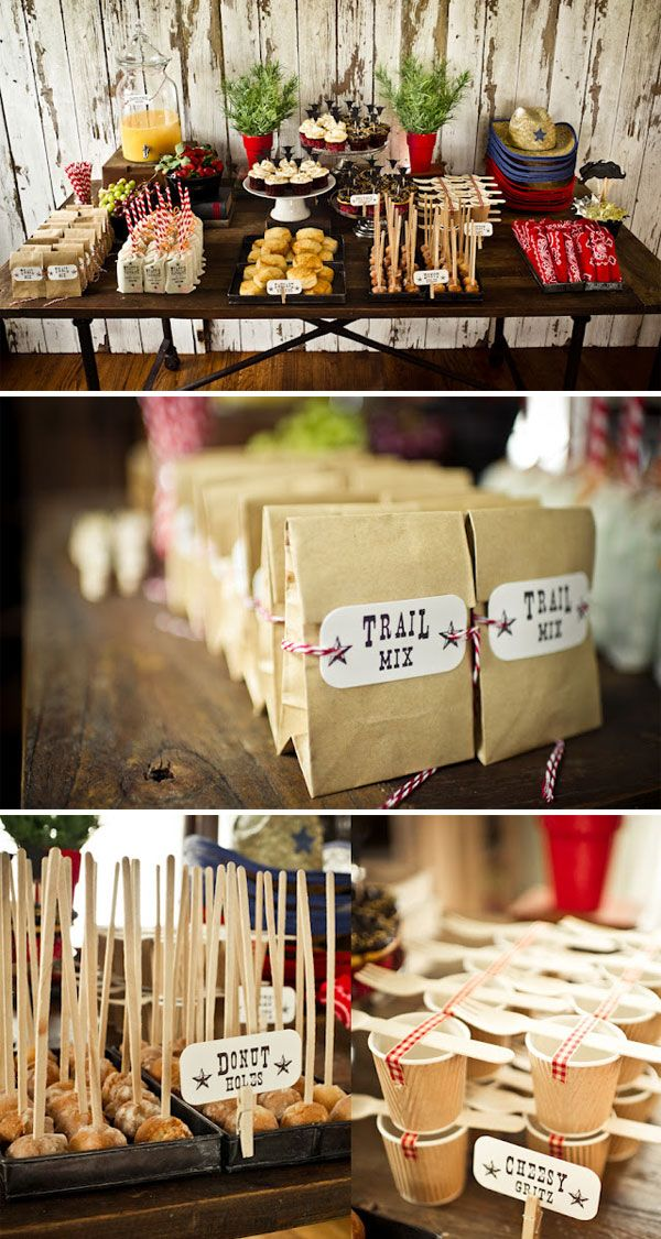 Cowboy Themed Birthday Party - Lots of great inspiration found here.