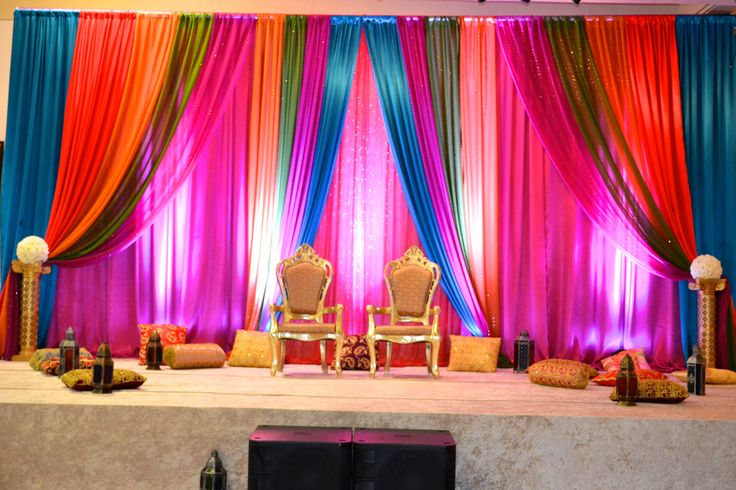 Backdrop For Indian Sangeet Night