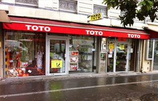 TOTO PARIS ITALIE - 75, av. d'Italie, 75013 PARIS  Tél : 01 44 24 27 94 Fax : 01 53 82 05 77  Horaires d'ouvertures : Ouvert du Lundi au Samedi de 10h à 19h