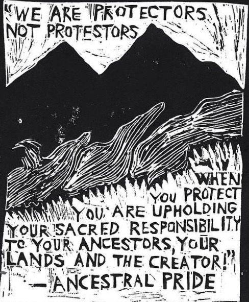 """We are protectors not protestors, when you protect you are upholding your…"