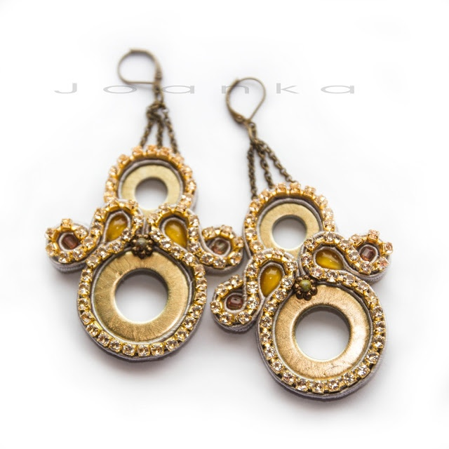SPARKLE earrings / soutache jewelry