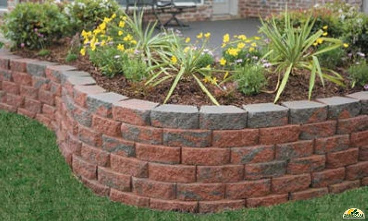 Retaining Wall With Multi Color Block Blockwall9 Stuff