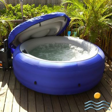 round portable hot tub want to see the campers next to us. Black Bedroom Furniture Sets. Home Design Ideas
