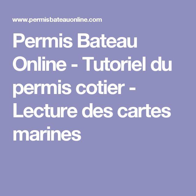 Permis Bateau Online - Tutoriel du permis cotier - Lecture des cartes marines