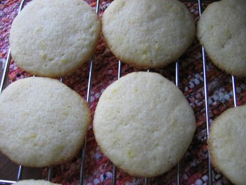 sugar cookies; I added a splash of mint extract, too and these turned out really well. They are chewier/taller than a standard sugar cookie, but the trade-off for not having to roll them out is worth it!
