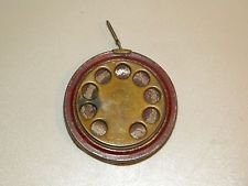 antique lufkin telephone brass dial 50 ft foot linen corded tape measure nod53