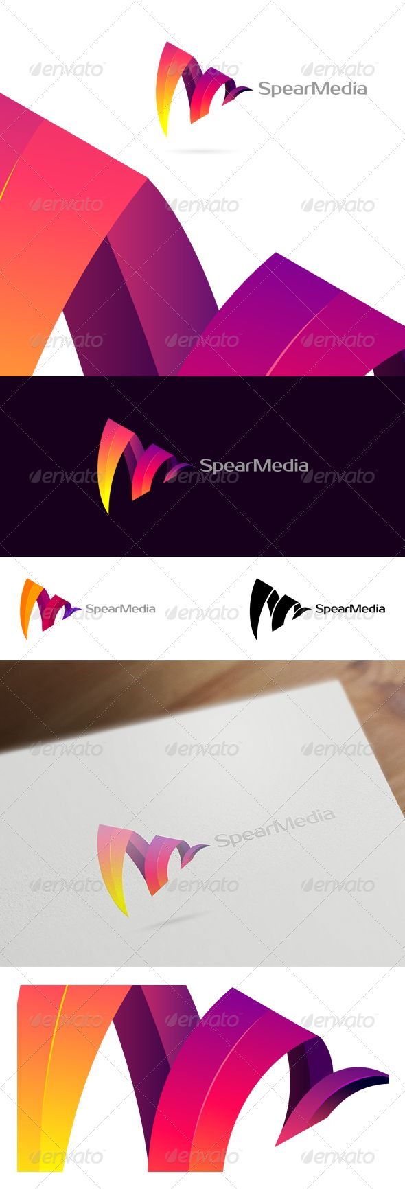 Spear Media - Colorful Corporate & Creative Logo — Vector EPS #gradient #music • Available here → https://graphicriver.net/item/spear-media-colorful-corporate-creative-logo/6275983?ref=pxcr