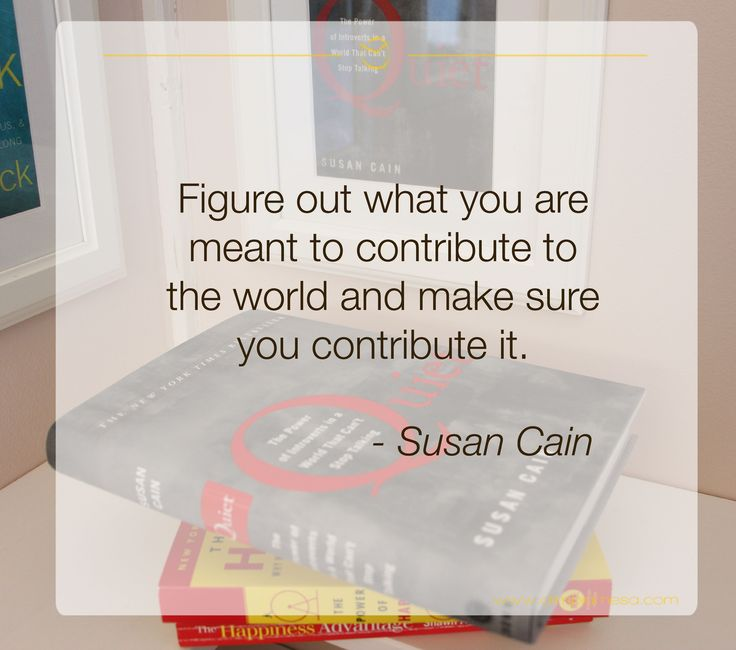 ‪#‎Author‬ Susan Cain Wonderland, page 264. If you are an introvert like me her book ‪#‎Quiet‬ will give you the most valuable teachings on deploying the powers of quiet. These book could be transformed into a fabulous Online Courses, it is a Quiet Revolution already!