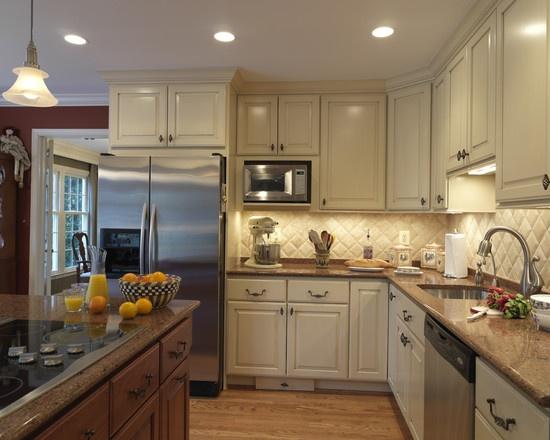 26 best images about kitchen backsplash with dark for Cream and brown kitchen ideas