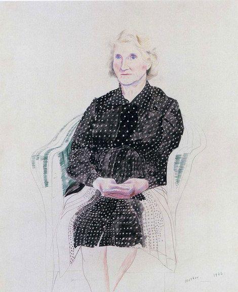 David Hockney, The Artist's Mother on ArtStack #david-hockney #art