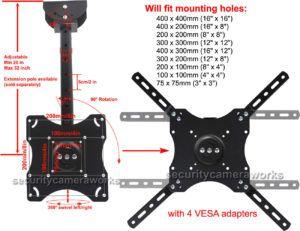 Vesa Wall Mount Pattern 200mm X 200mm