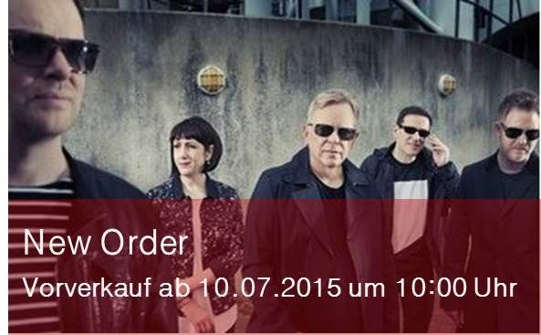 New Order im November live in Berlin | Ticket-Vorverkauf