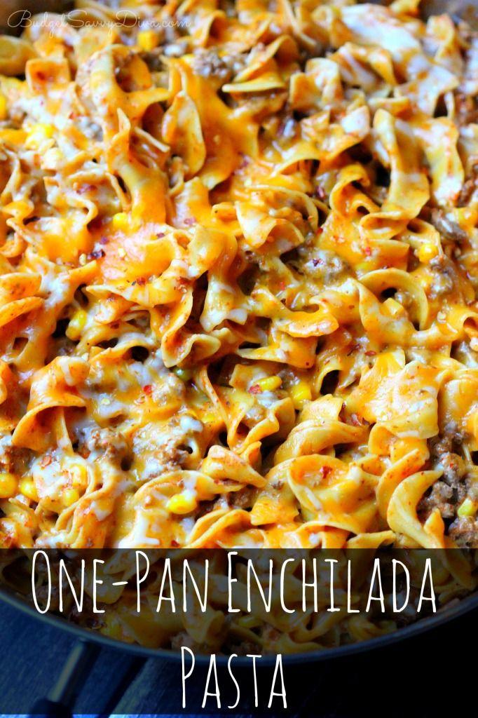 One-Pan+Enchilada+Pasta+Recipe