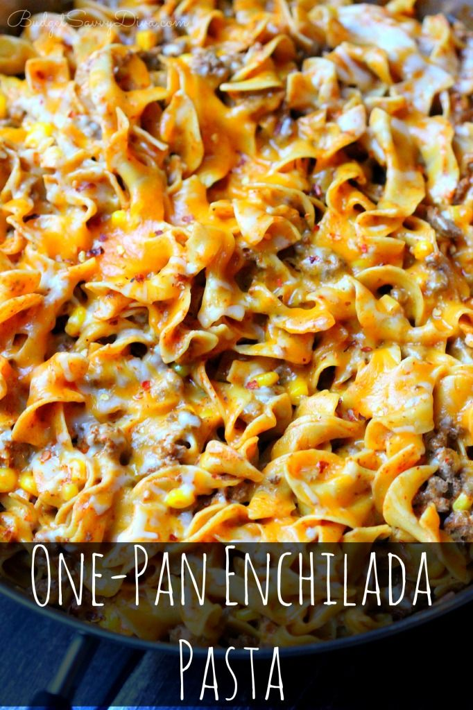 One-Pan+Enchilada+Pasta+Recipe