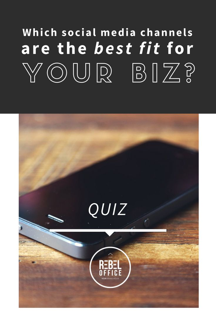 Which Social Media Channels are the best fit for your biz? QUIZ