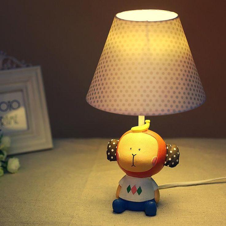 Дешевое Sandisk главная декор сада идеи спальня ночники регулируемой яркостью лампы IKEA детская комната мультфильм обезьяна настольная лампа, Купить Качество Настольные лампы непосредственно из китайских фирмах-поставщиках: