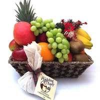 Fruit Basket Gift + Pudding Lady Christmas Pudding