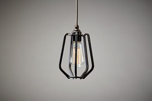 Exclusive wrought iron light fitting range - The Farrier's Cage Collection