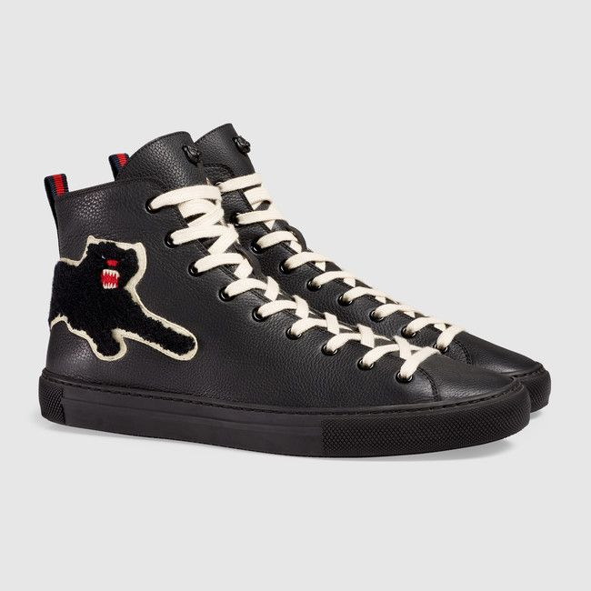 Gucci Leather Panther high-tops · Shoes ...