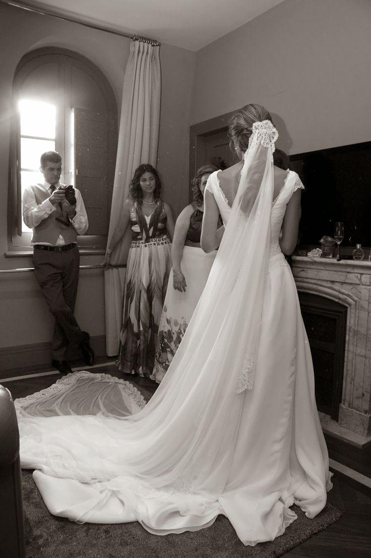 Vestido de Teresa Palazuelo Foto de Santiago de Sentmenat