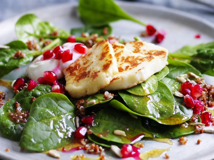 Quinoa salad with haloumi and pomegranate, quinoa recipe, brought to you by Australian Women's Weekly