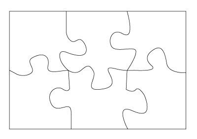 Clear Scraps Clear Acrylic Mini Puzzle Pieces For Scrapbooking and Paper Crafts