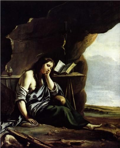Mary Magdalene in Meditation - Le Nain brothers