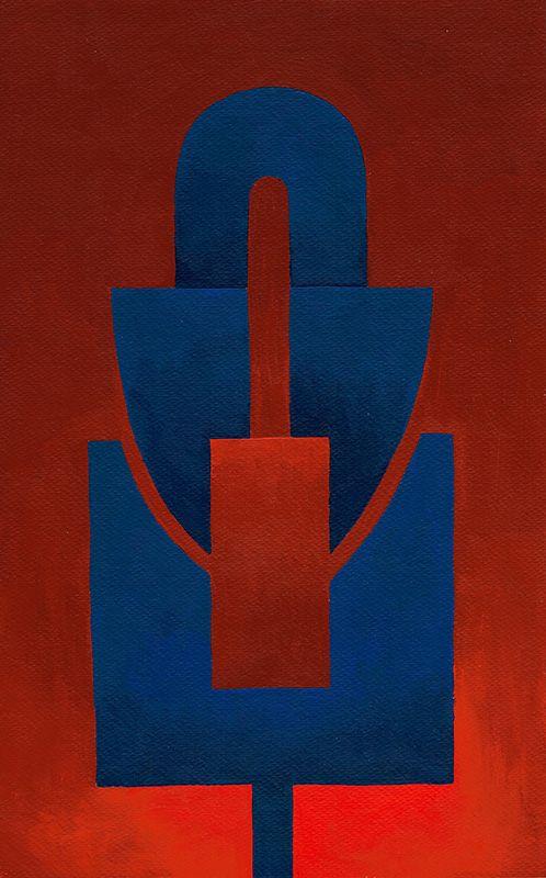 Kunstgalerie KUNSTFLIEGEREI Grafikdesign Gemälde, abstraktes Gesicht