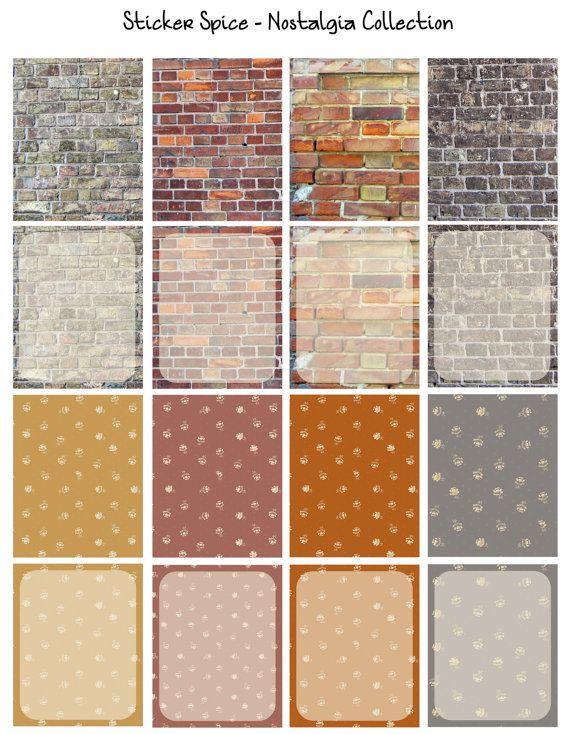 Full Erin Condren Printable Kit Bricks Sticker par StickerSpice