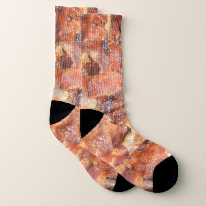 foodie humor meat lover i love bacon socks - humor funny fun humour humorous gift idea