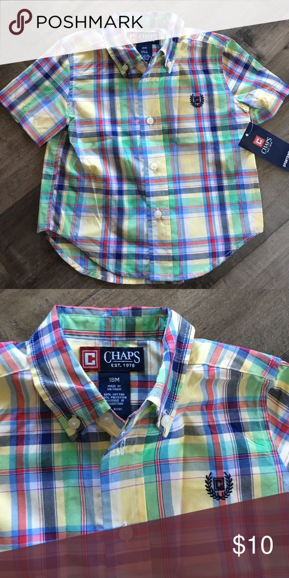 Brand new chaps shirt Brand new with tags 18 months chaps shirt Chaps Shirts & Tops Button Down Shirts